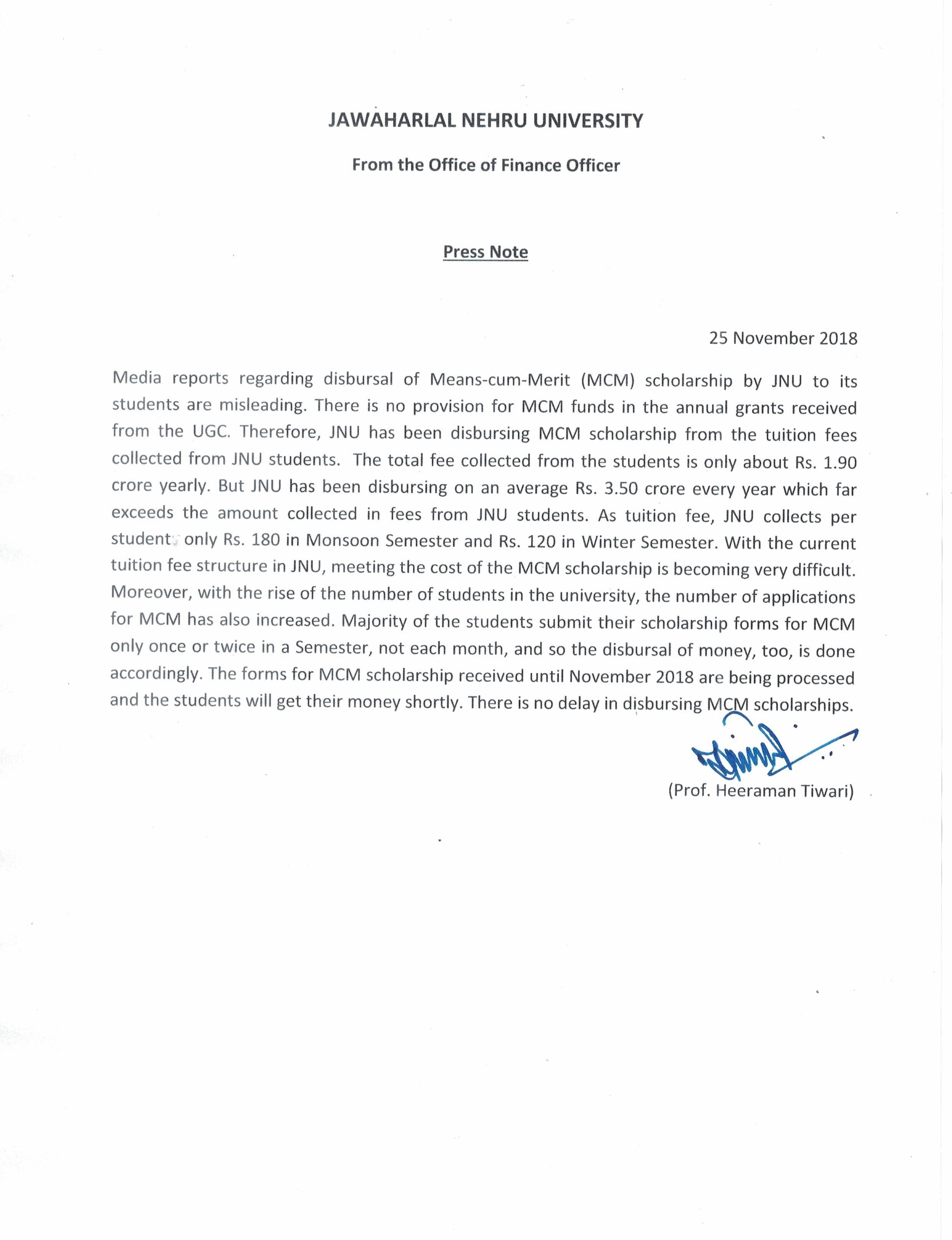 Welcome to Jawaharlal Nehru University